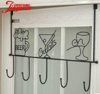 Wrought iron hooks, Door hanger from nails strong non mark sticky hook hanging hook
