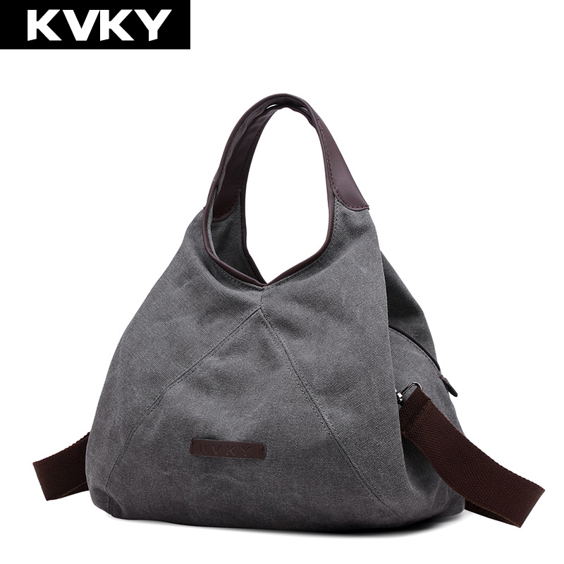 KVKY New Retro Canvas Handbag Women Shoulder Cross body Bag Fashion Casual bags Designer High Quality Handbag Large Capacity Bag