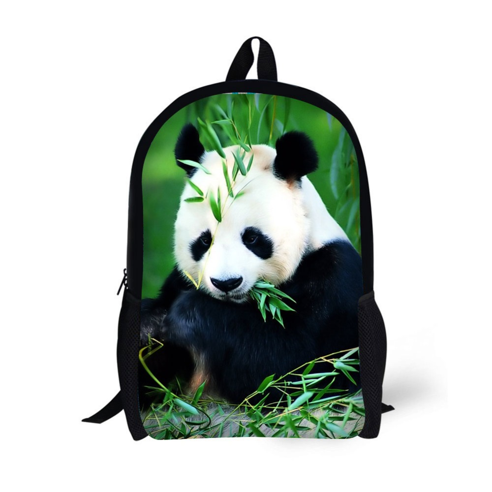 Panda Printing Backpack Children School Bags For Teenager Girls 17 Inch Backpacks Laptop