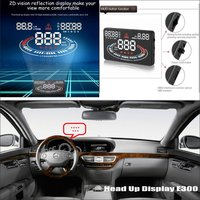 Liislee For Mercedes Benz MB W220 W221 Get Important project to windshield car's HUD head up display screen projector