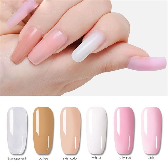 1 Pcs Poly Gel Finger Extension Clear Pink Jelly Polygel Quick ...