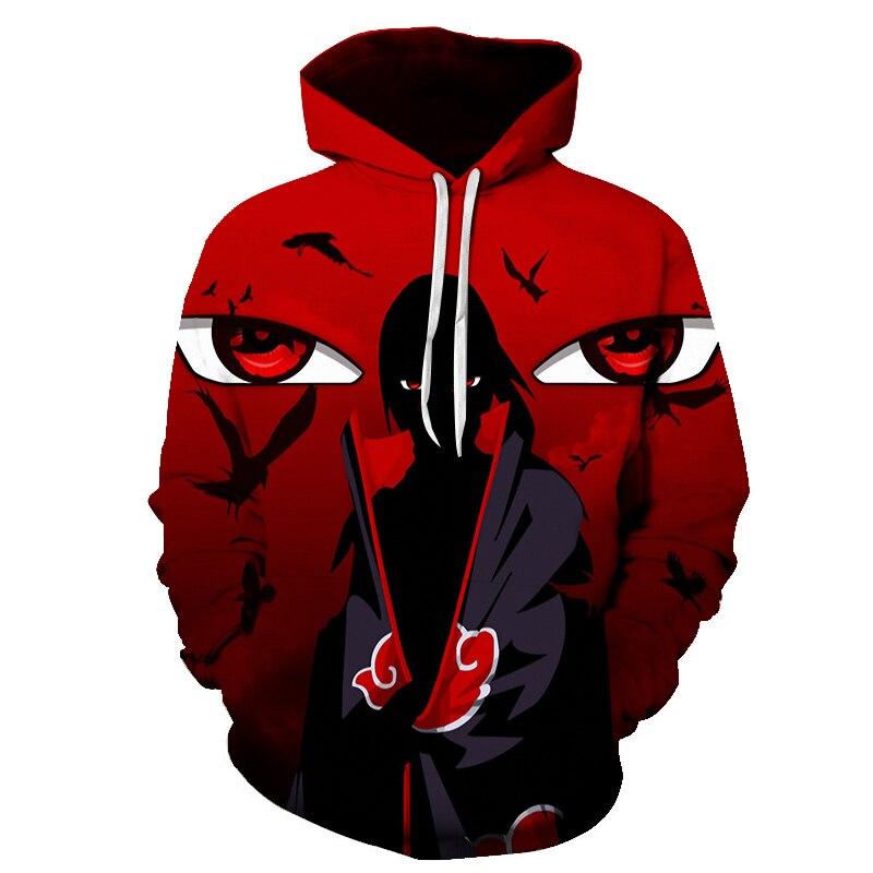 Naruto 3D Printed Hoodies Women/Men 2019 Fashion Long Sleeve Casual Hooded Sweatshirts Skateboards Cool Red Hip Hop Hoodies