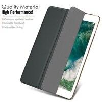 pu leather Case for New iPad 9.7 inch 2018 iPad 6 2018 A1893 A1954 Funda Soft silicone bottom Back PU Leather Smart Cover Auto Sleep (2)
