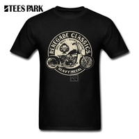 T Shirts For Men Glory Bounds Motorcycle USA Harley Round Collar Short Sleeve T Shirt Hip