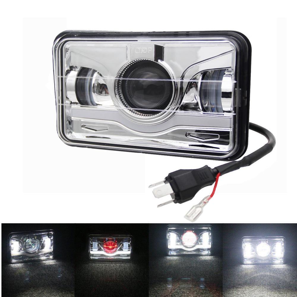 "2Pcs 4X6/"" LED Headlights Light Bulbs Crystal Clear Sealed Hi//Lo Beam Headlamp"