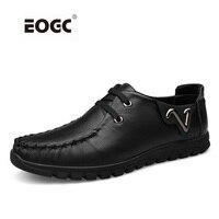Handmade Men Shoes 100 Leather Men Flat Shoes Soft Leather Men Loafers Plus Size Brand Design