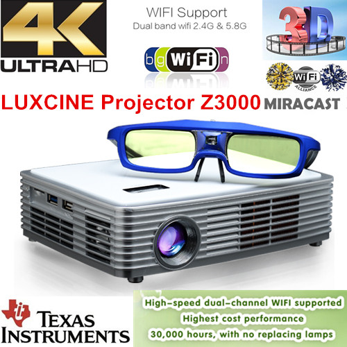 Hiperdeal Home Cinema Theater Multimedia Led Lcd Projector: Luxcine Smart Projector Z4000 / Multimedia LED Projector