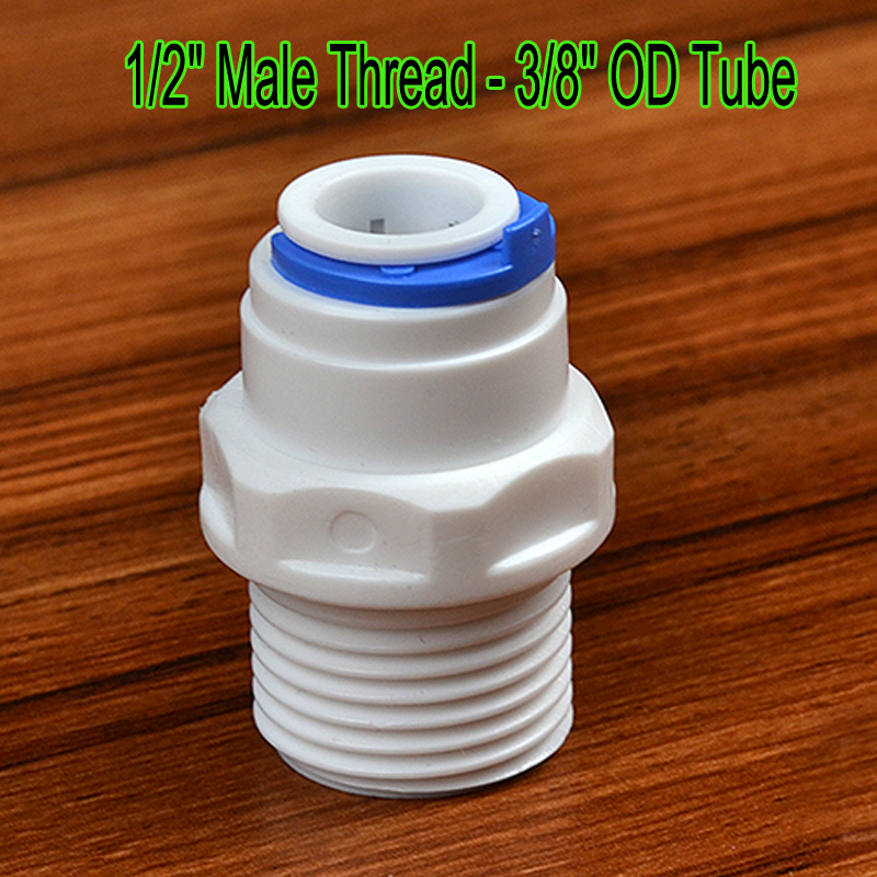 1/4 - 1/4 OD Tube Straight PE Pipe Fitting Hose Plastic Quick Connector Aquarium RO Water Filter Reverse Osmosis System
