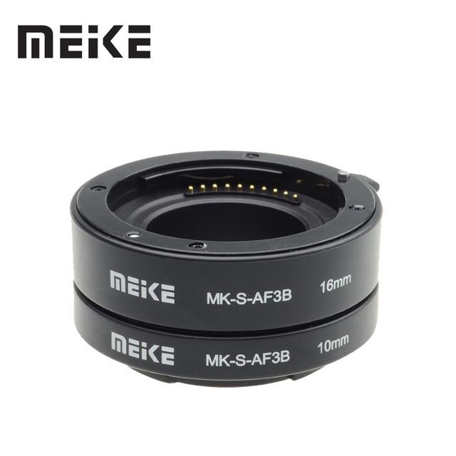 Meike Anillo de Tubo de extensión Macro de enfoque automático para Sony e mount, A6300, A6500, A6000, A7, A7II, A7III, A7SII, NEX 7, NEX5R, NEX 6, NEX 3N