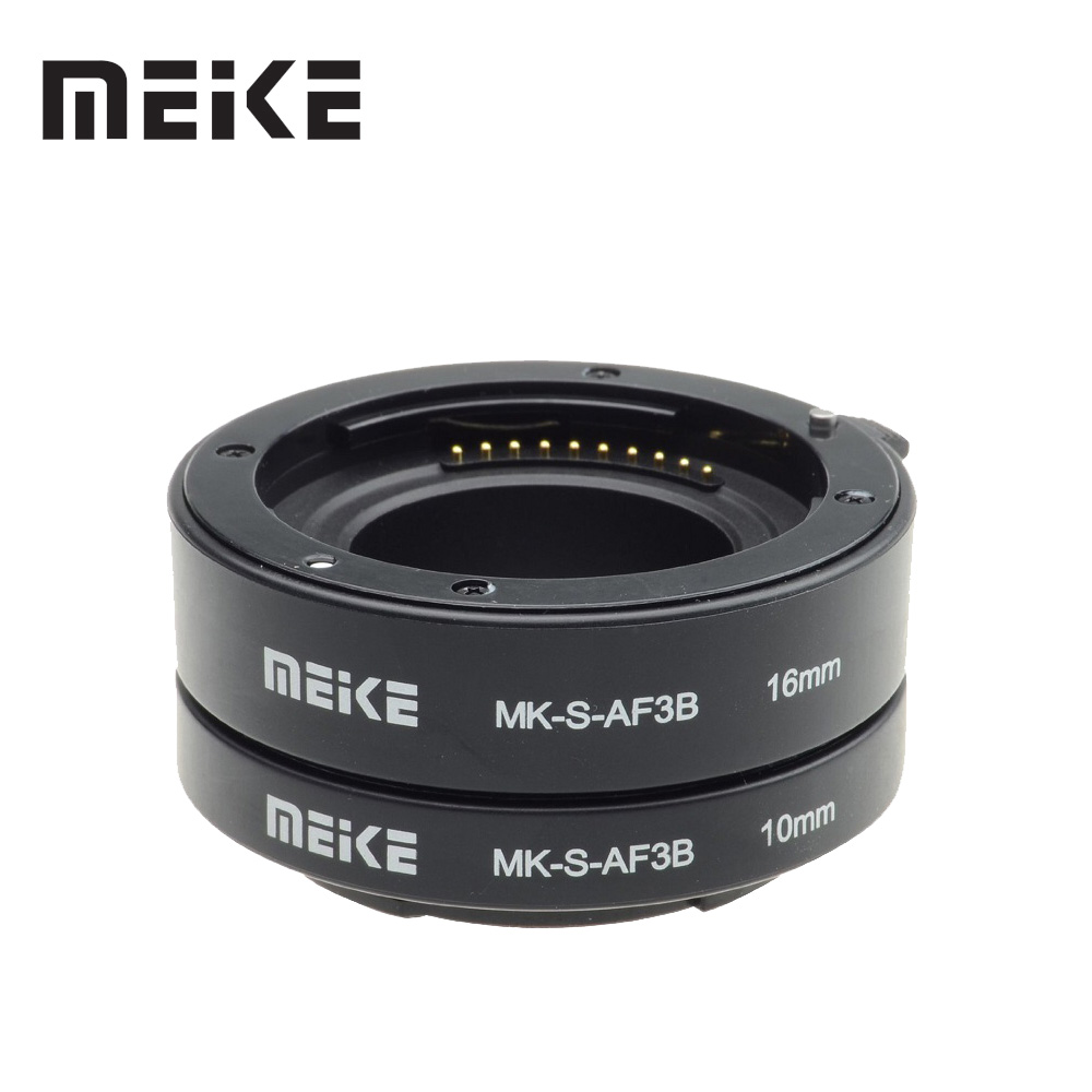 Meike Auto Focus Macro Extension Tube Ring for Sony E-Mount A6300 A6500 A6000 A7 A7SII NEX-7 NEX-6 NEX-5R NEX-3N NEX-F3 NEX-5N плечевой ремешок для камеры sony blt 110 nex vg20e