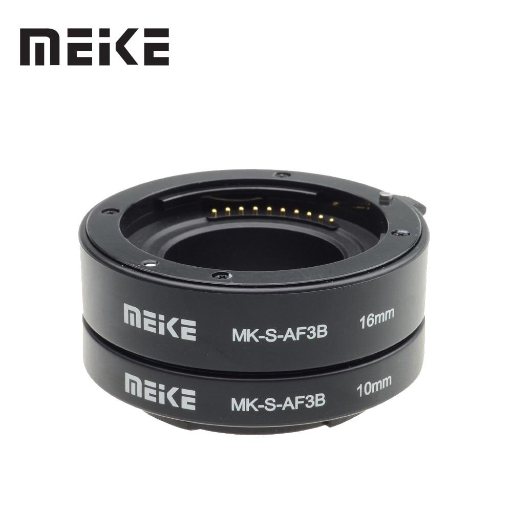 Meike Autofocus D'extension Macro Anneau de Tube pour Sony E-mount A6300 A6500 A6000 A7 A7II A7SII NEX-7 NEX-6 NEX-5R NEX-3N NEX-5N
