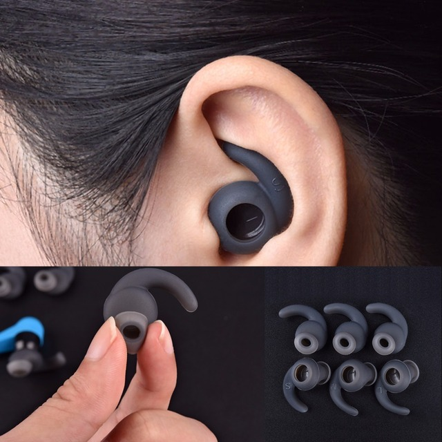 3pairs/lot Soft Silicone Ear Pads Eartips for Earphone Silicone case Ear Hook In ear Earbuds Earphone Accessories Ear tips
