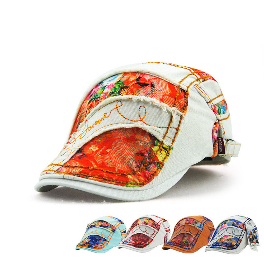 Fashion Womens Beret Hats Lace Duckbill Casquette Boina Buckle Visors Golf Driving Flat Detective Hat Casquette Newsboy Cap 2018
