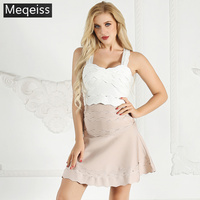 New Summer Women Tanks Tops Strapless Striped Sexy Bodycon Bandage Tank Tops Celebrity Party White Tank Tops Vestidos wholesale