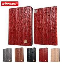 купить For ipad 9.7 2017 case for ipad air / air 2 luxury PU leather woven pattern stand cover for ipad 2018 /ipad pro 9.7 coque para по цене 1125.93 рублей