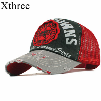 Xthree fashion mesh baseball cap for women men's summer cap snapback Hat for men bone gorra casquette fashion hat