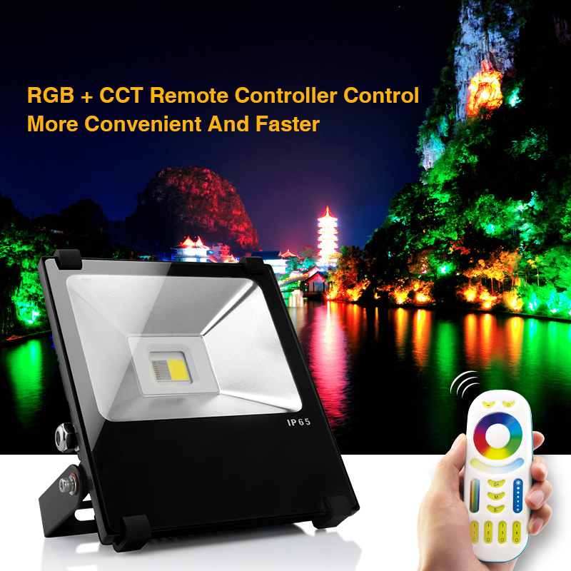 Здесь можно купить  Mi.Light-FUTT01;2.4Ghz RGBW led flood light;with Mi.Light-FUT092;2.4G RGB+CCT remote controller  Свет и освещение