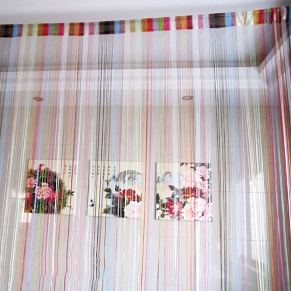 colorful nice decor string line curtain window door panel room divider curtain newchina