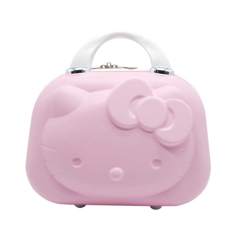 0401f934d72b Lovely Makeup Case Bag Cartoon Cosmetic Pouch Travel Suitcase Cartoon Kitty  Toiletries Case Beauty Tote Cute Handbag Accessories