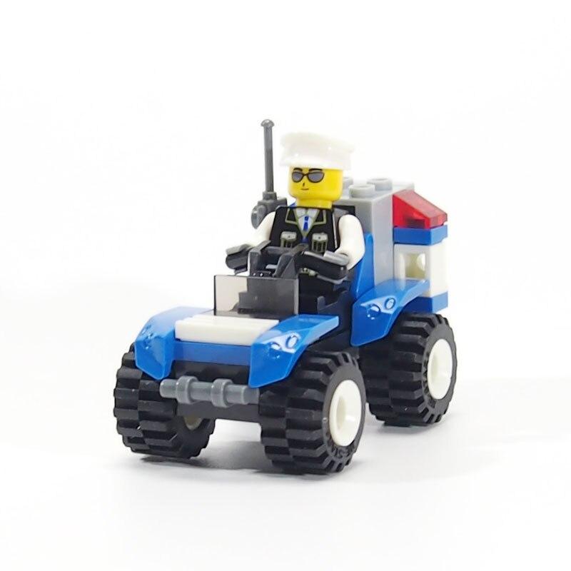 Şehir Polis SWAT Minifigures Polis Araba Modeli Tuğla Oyuncak Yapı Taşları Montaj Tuğla