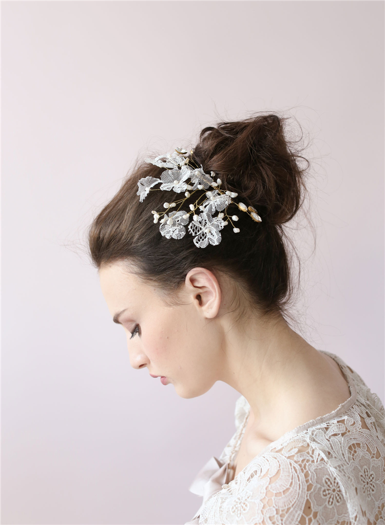Awesome Bridal Hairpiece Bridal Hairpiece Bhldn Bridal Hair Accessories Hairstyles For Women Draintrainus