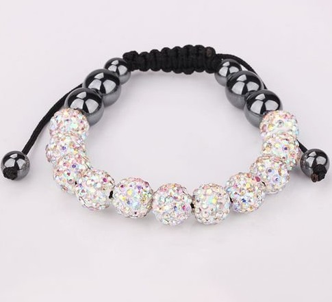 Free shipping 11x crystal ball design AB color T-Paris Shambhala Bracelet Shambala crystal beads fashion bracelet