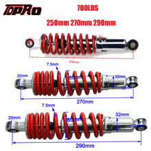 TDPRO New 250mm 270mm 290mm ATV Buggy Rear Shock Absorber Suspension Spring For 50-150cc Motorcycle Go Kart Quad Pit Bike 700LBS