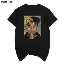 Xxxtentacion Raper impressão Verão T-shirt de Hip Hop Dos Ganhos TSHIRT Das Mulheres de Algodão camisa Dos Homens T Novo TEE Casal Ama