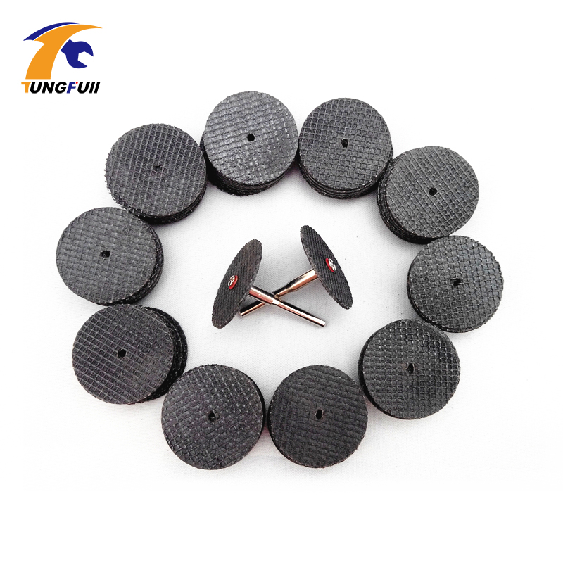Tungfull 10PC Abrasive Tools Fiberglass Reinforced Cutting Disc Cut Off Wheel With 4 Mandrels Fit Dremel Rotary Tool Accessories
