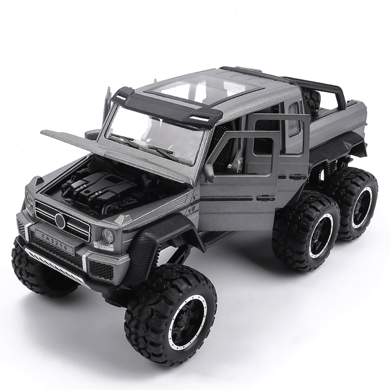 1/32 Scale G63 Alloy Model Car Toy Hot Simulation Off-road Car With Wheels Sound Light Educational Diecast Vehicle Toys For Kids
