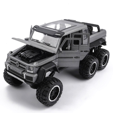 1/32 Scale G63 Alloy Model Car Toy Hot Simulation Off-road With Wheels Sound Light Educational Diecast Vehicle Toys For Kids