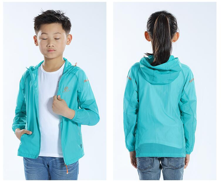 d0f5124b78ae Summer Kids Outdoor Hiking Sun Protection Beach Skin Jackets ...