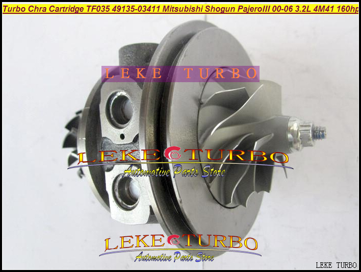 Turbo Cartridge Chra Core TF035 49135-03411 49135-03410 Turbocharger For Mitsubishi Pajero 3 2000-06 Shogun 3.2L DI-D 4M41 160HP turbolader turbo cartridge turbo core chra tf035 49135 05610 49135 05620 49135 05670 49135 05671 for bmw 120d 320d e87 e90 e91