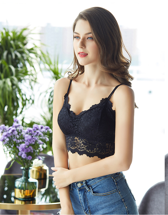 2020 New Arrival Women Push Up Wireless Lace Bra Top Women Plus Size Bralette Underwear Lingerie Full Cup