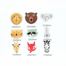 Multicolor 50pcs 2 Holes Mixed Animal  Wooden decorative Buttons Fit Sewing Scrapbooking Crafts multicolor 50pcs 2 holes mixed animal wooden decorative buttons fit sewing scrapbooking crafts