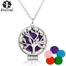 2016 Vintage Vintage Necklace Pendants 5 Colors Felt Pads Lockets Three Color Tree of life Aromatherapy Perfume Wholesale