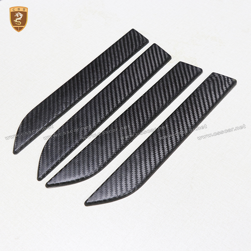 4pcs Carbon Fiber Door Handles Covers For Tesla Model X 2016 2017 2018 Add On Style Car Styling High Quality Auto Accessories