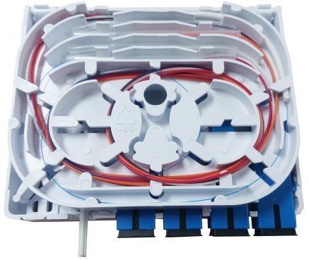 ODN FTTH 4 cores fiber Termination Box 4 ports 4 channels fiber socket Splitter Box indoor outdoor