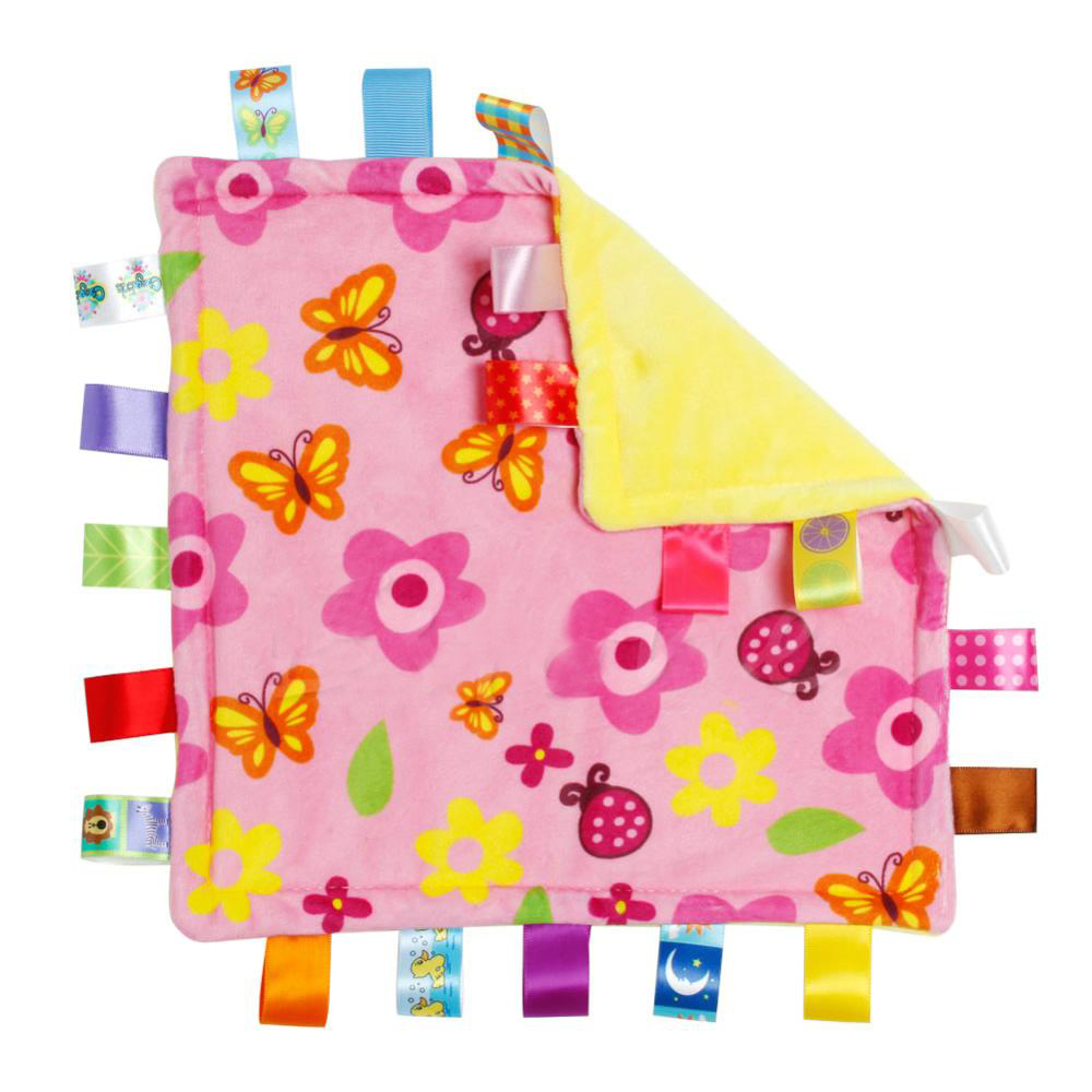 30*30cm Baby Appease Towel Baby Calm Wipes Baby Towel Towel Blanket Cute Doll Plush Toys A5370(Color small flowers)