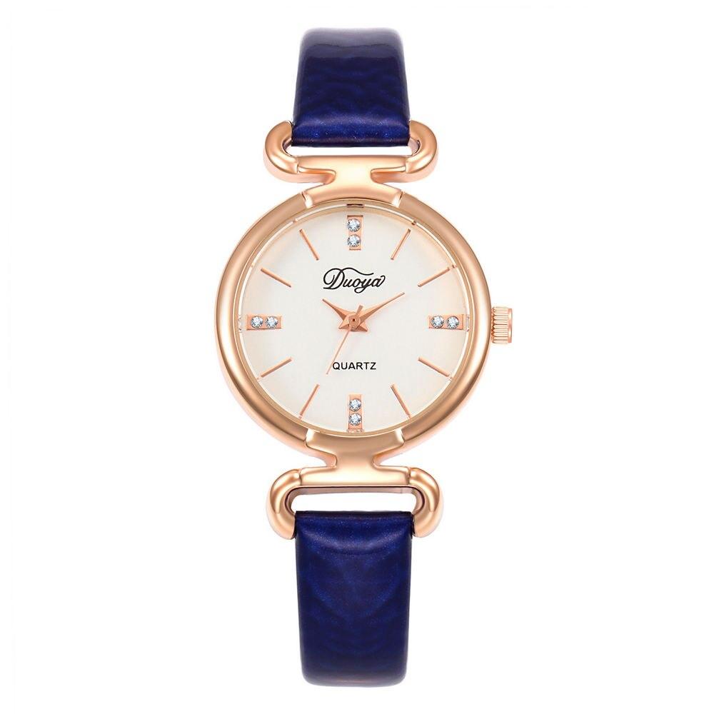 New Fashion Luxury Brand Golden Dial Leather Quartz Women Watch Ladies Femininity Wrist Watches Clock Relogio Feminino Masculino