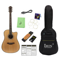 New Rosewood EQ Folk Guitar 41 Acoustic Guitar Guitar Bag+Tuner+Capo+Strap+Speaker+Strings+Cloth) Stringed Instrument