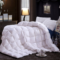 Luxury 3D Design 100 Duck Feather Down Quilt Winter Duck Quilt 100 Cotton Luxury Duck Feather