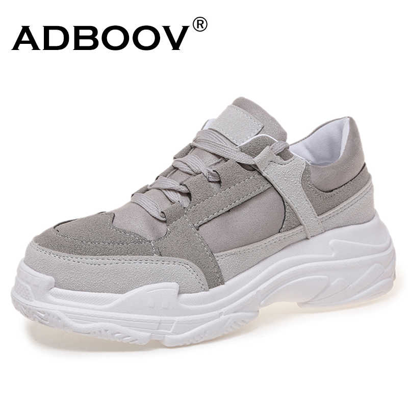 a44f92c0430 ADBOOV New Autumn Fashion Shoes Woman Suede Upper Platform Sneakers Women  Zapatos De Mujer Ladies Chunky