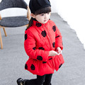 2016 Fashion Jacket Kids Down Jacket For girls Baby Red girls Clothes Winter Down Coat Warm Baby Snowsuit Children Hooded Coat