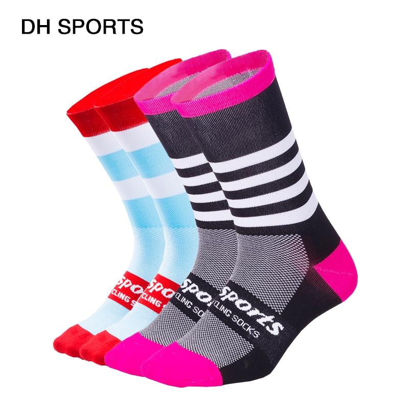 Dh Sport Neue Professionelle Sport Radfahren Socken Männer Frauen Atmungsaktive Straße Fahrrad Mountainbike Socken Lauf Compression Socken