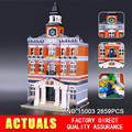 LEPIN 15003 Nuevo 2859 Unids Creadores El ayuntamiento Kits de Edificio Modelo Bloques Kid Toy Compatible Ladrillos de Regalo de Navidad