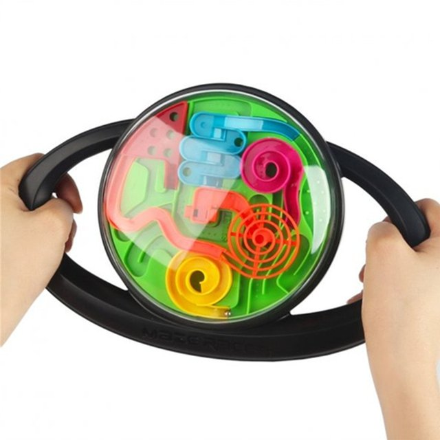 Intellect 3D Maze Racer Ball Handheld Game Best Gift Independent Play for Children 7-15 Years