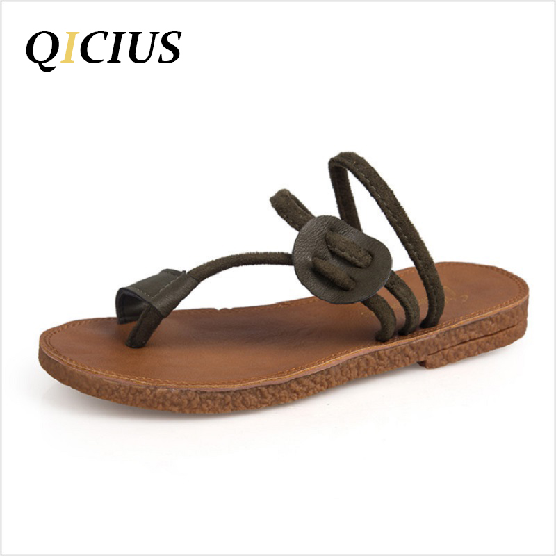 QICIUS Sweet Flat With Flower Women Sandals Flip Flops Back Strap Slip On Sandals Women Slippers zapatos mujer Q0248