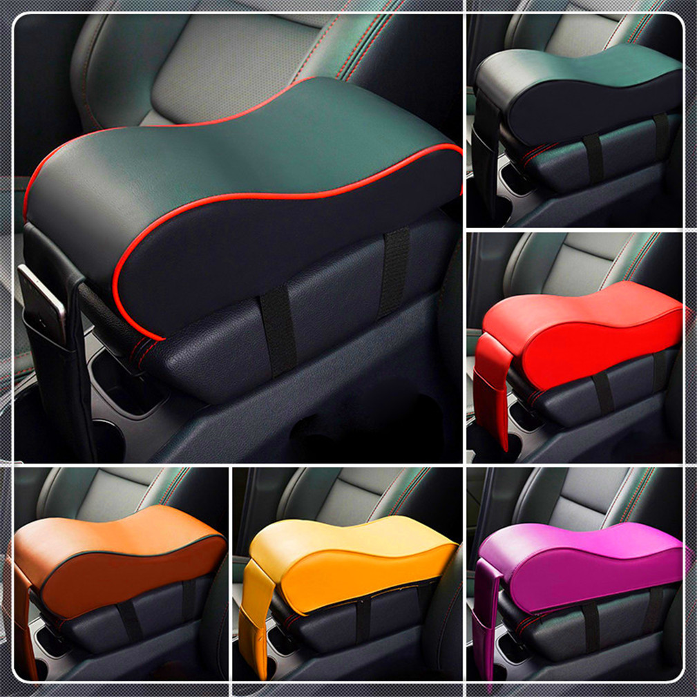 Leather Car <font><b>Armrest</b></font> Pad Auto Center Console Arm Rest Seat Box for <font><b>Peugeot</b></font> <font><b>206</b></font> 307 406 407 207 208 308 508 2008 3008 4008 image