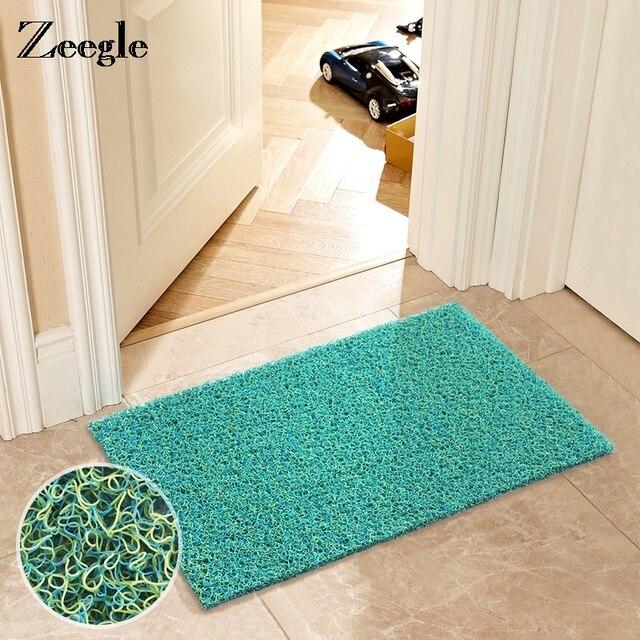 Zeegle Plastic Welcome Door Mats Outdoor Home Decor Water Proof For The Hallway Anti Slip Bathroom Kitchen Rugs